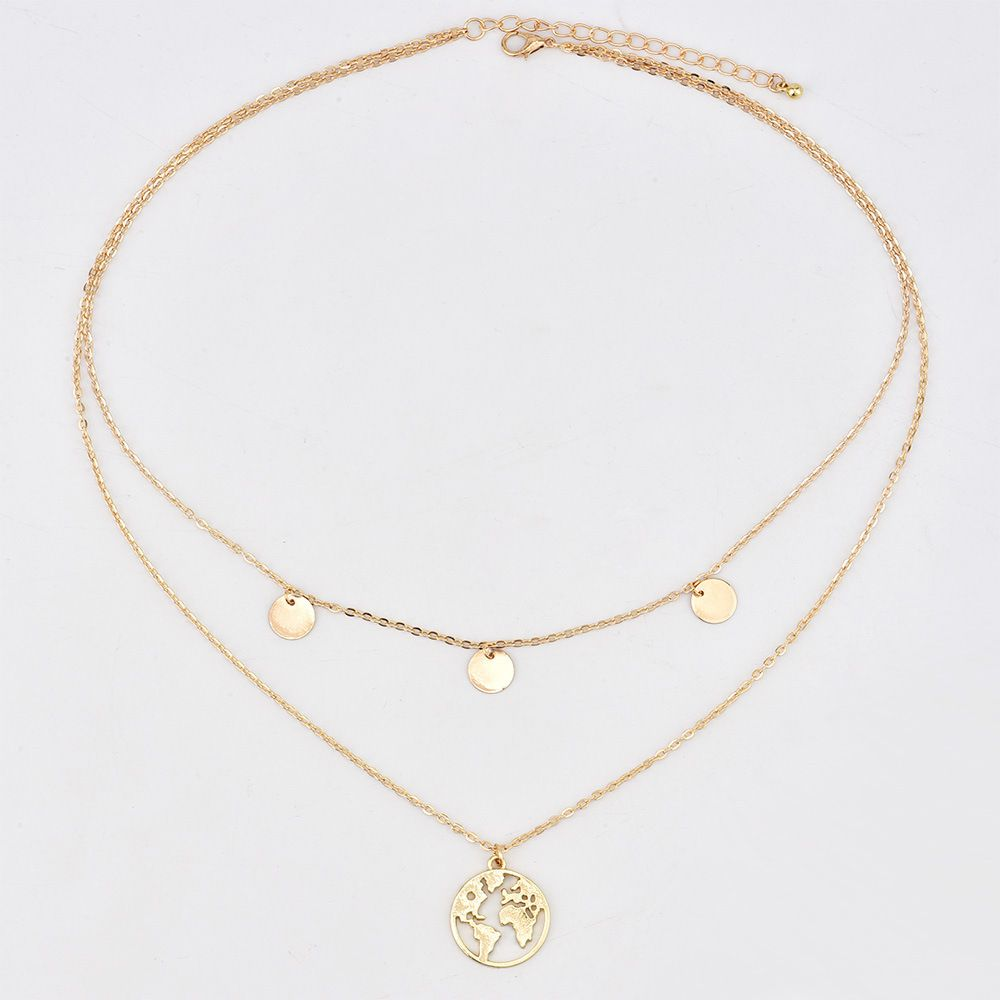 MOC Alloy Golden Color Choker Contemporary/Fashion Golden Color Plated Necklace Fashion Jewellery