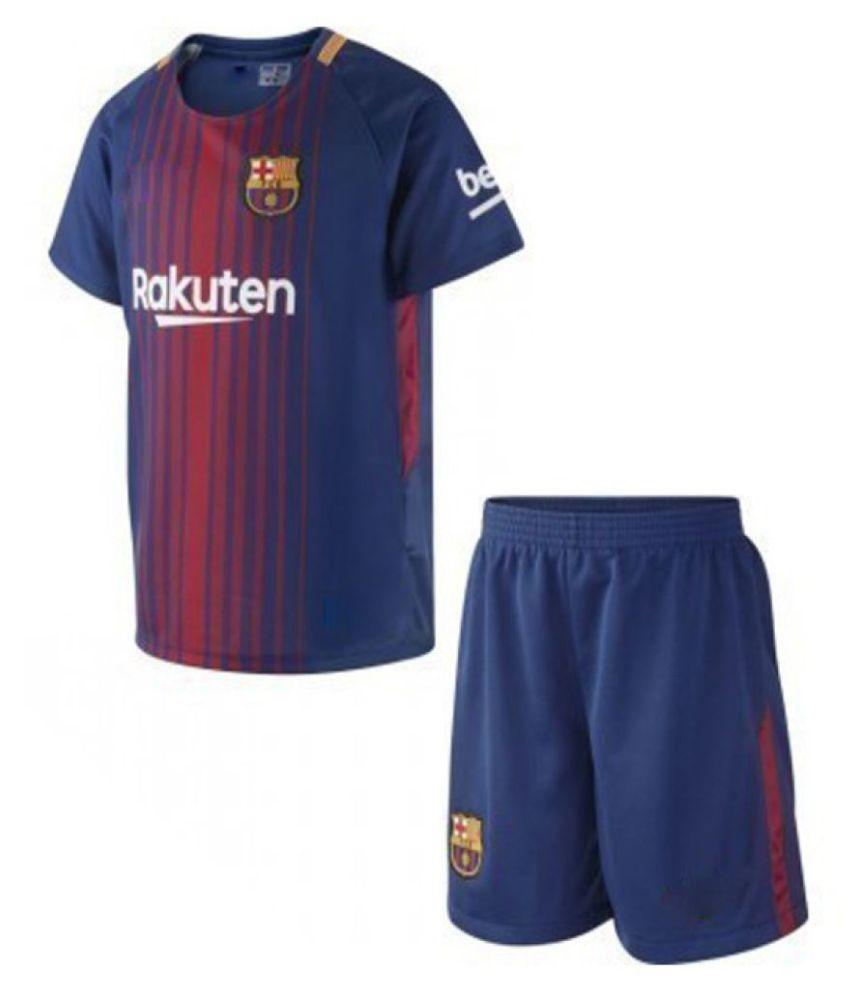 Uniq Kids football jersey (Barcelona Rakuten) Dress For Boys - Buy Uniq  Kids football jersey (Barcelona Rakuten) Dress For Boys Online at Low Price  - ... d6fc6bd03