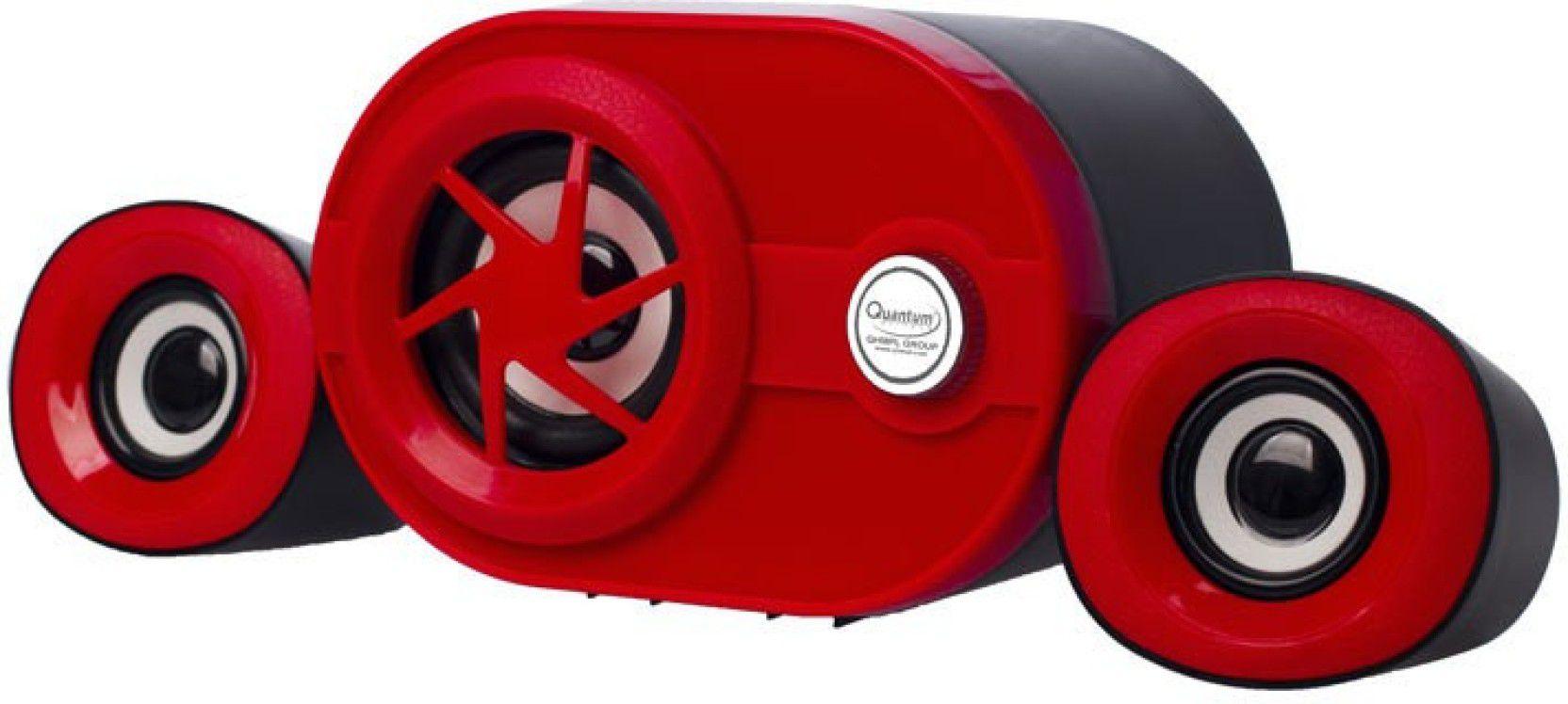 Quantum QHM6200A 2 1 Woofer Multimedia Sound Box Speakers - Red For Laptop,  Desktop, Mobiles, TV, MP3/MP4
