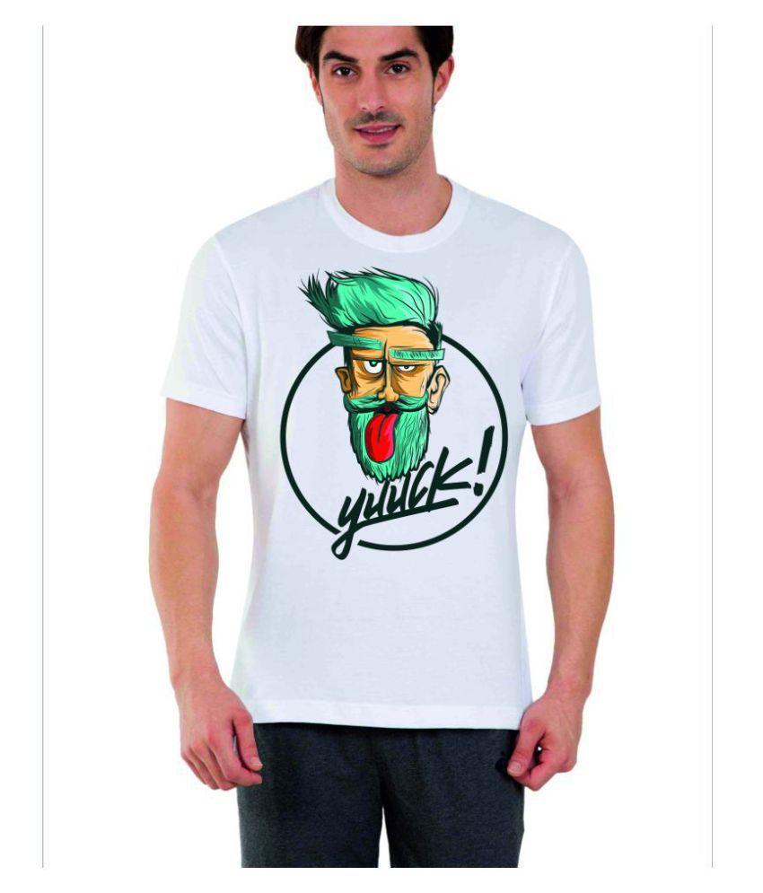 PixArt White Half Sleeve T-Shirt
