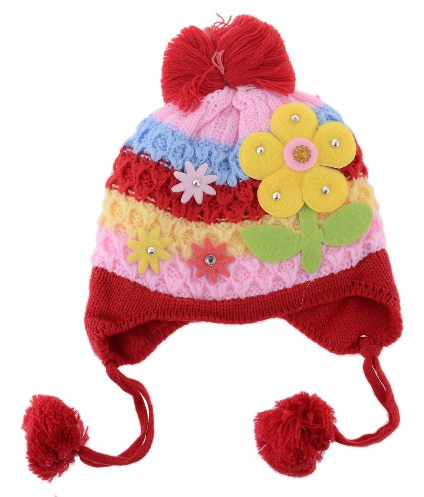 54fa6881c795 Shop Frenzy Kids Woolen Winter Soft caps for Baby boy/Baby Girl ...
