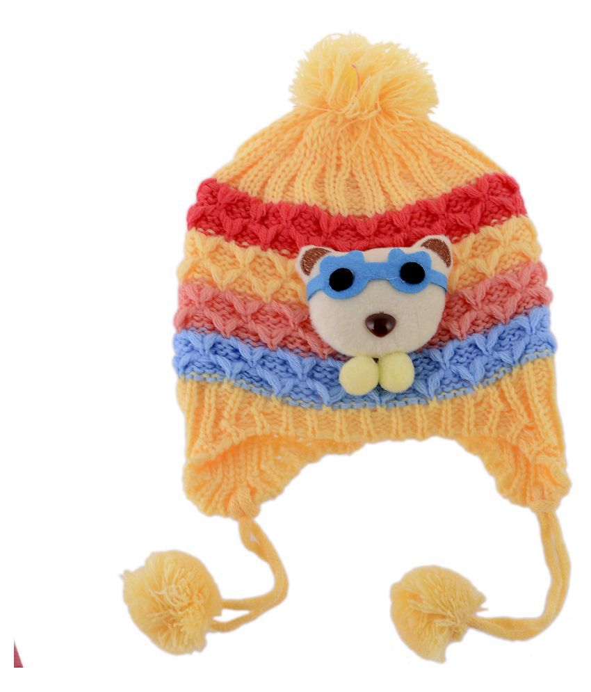 Shop Frenzy Kids Woolen Winter Soft caps for Baby boy Baby Girl ... 5b9cef5b2cb