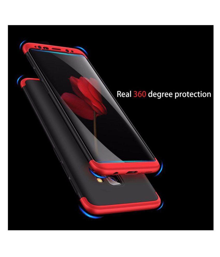Samsung A6 Plus Plain Cases Brand Fuson - Red