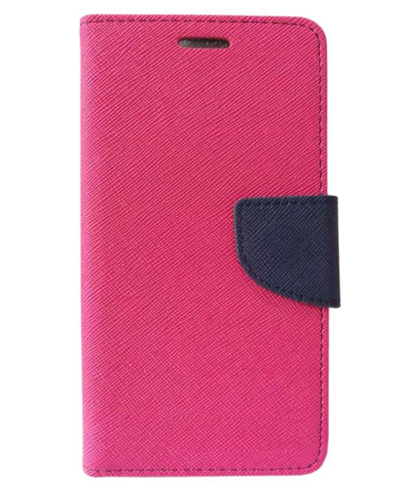 Xiaomi Redmi 1s Flip Cover by Kosher Traders - Pink Premium Mercury