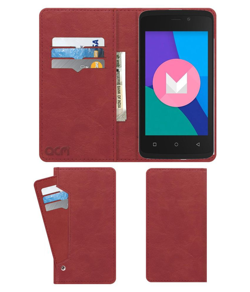 ZOPO COLOR M4 Flip Cover by ACM - Pink Wallet Case,Can store 6 Card & Cash,Peach Pink