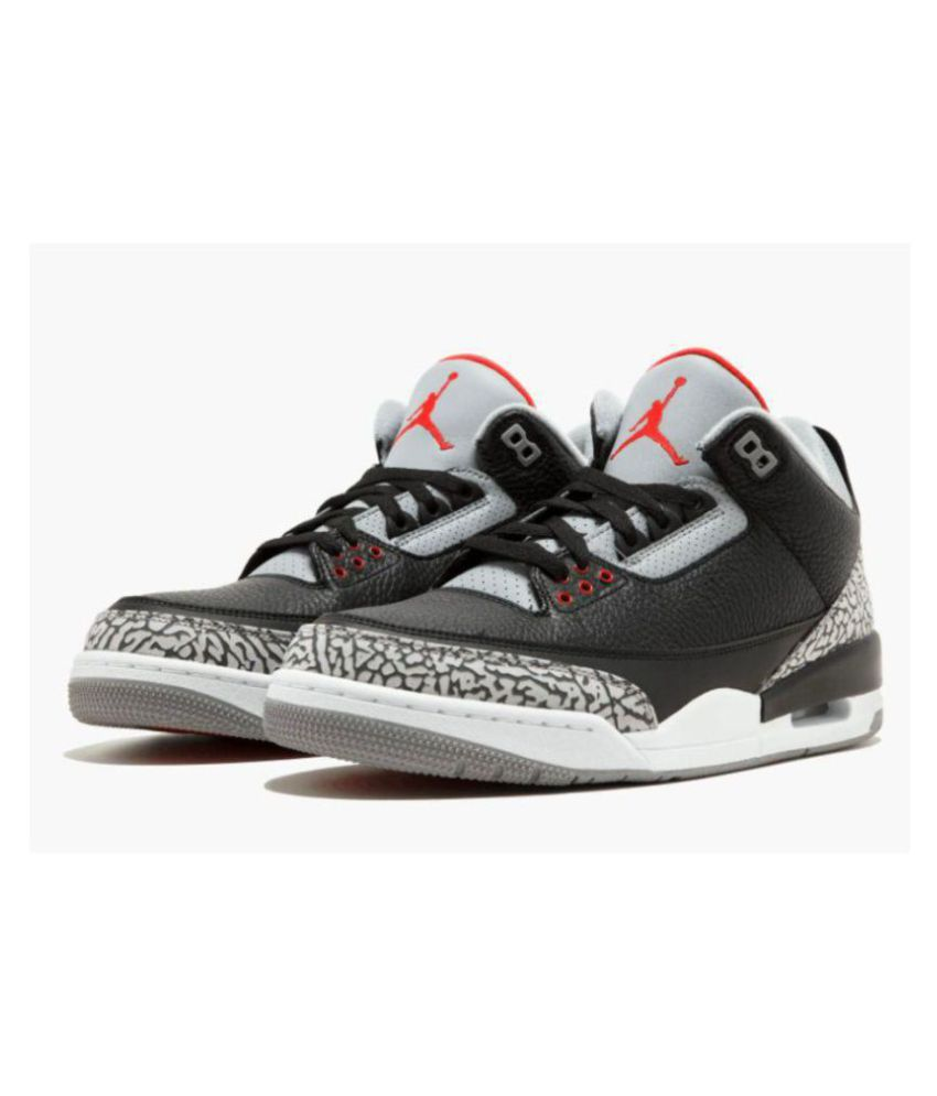 cead6af76709 Nike Jordan Retro 3 cement Black Basketball Shoes - Buy Nike Jordan ...