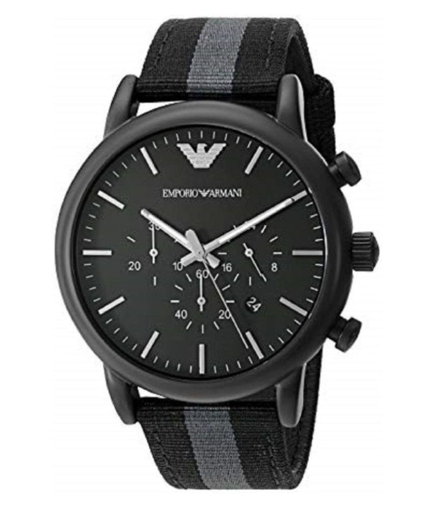7a7b6aad84c6 Emporio Armani AR 1948 Nylon Chronograph Men s Watch - Buy Emporio Armani  AR 1948 Nylon Chronograph Men s Watch Online at Best Prices in India on  Snapdeal