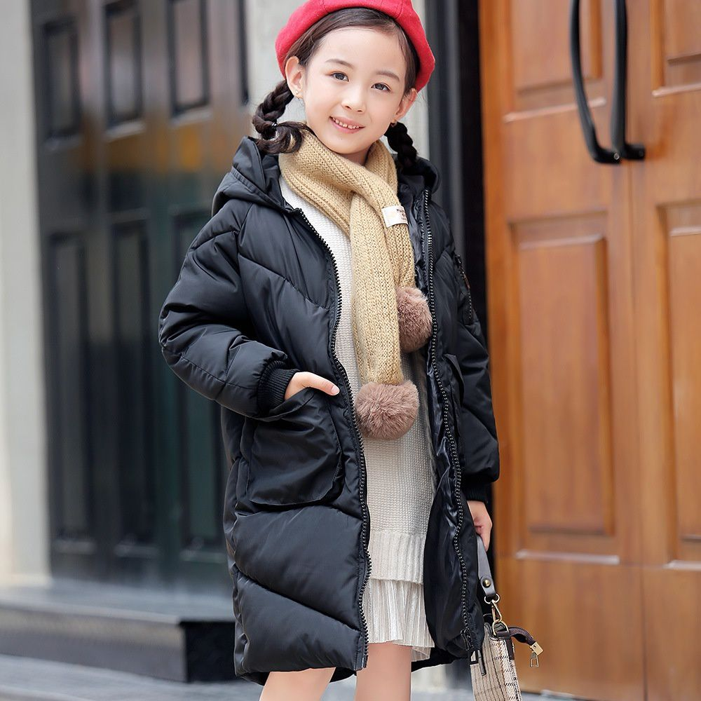 6-15 Years Fashion Boys Girls Men's Cotton-Padded Parkas Down Coat Hooded Down Jackets Zippers Up Baby Toddlers Children Winter