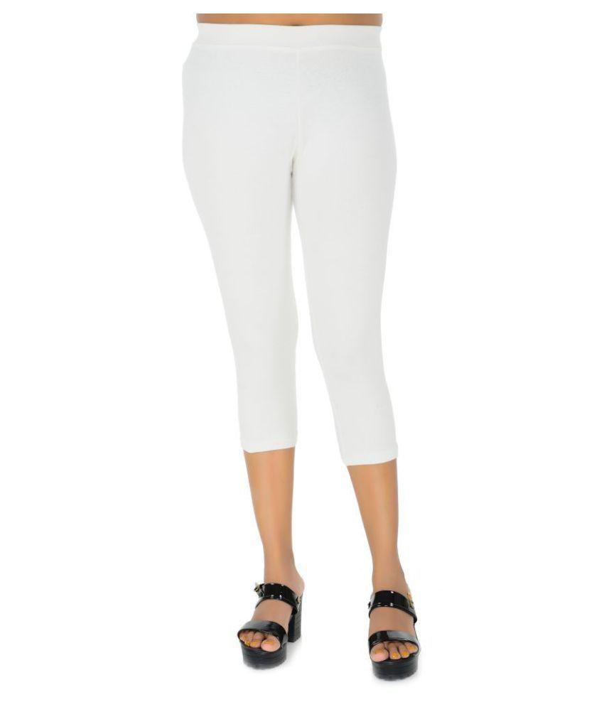 E Mart Cotton Tights - White