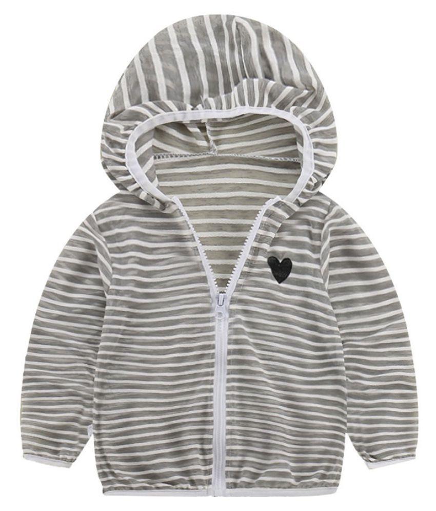 Toddler Kids Summer Sunscreen Jackets Baby Girls Hooded Outerwear Zip Coats