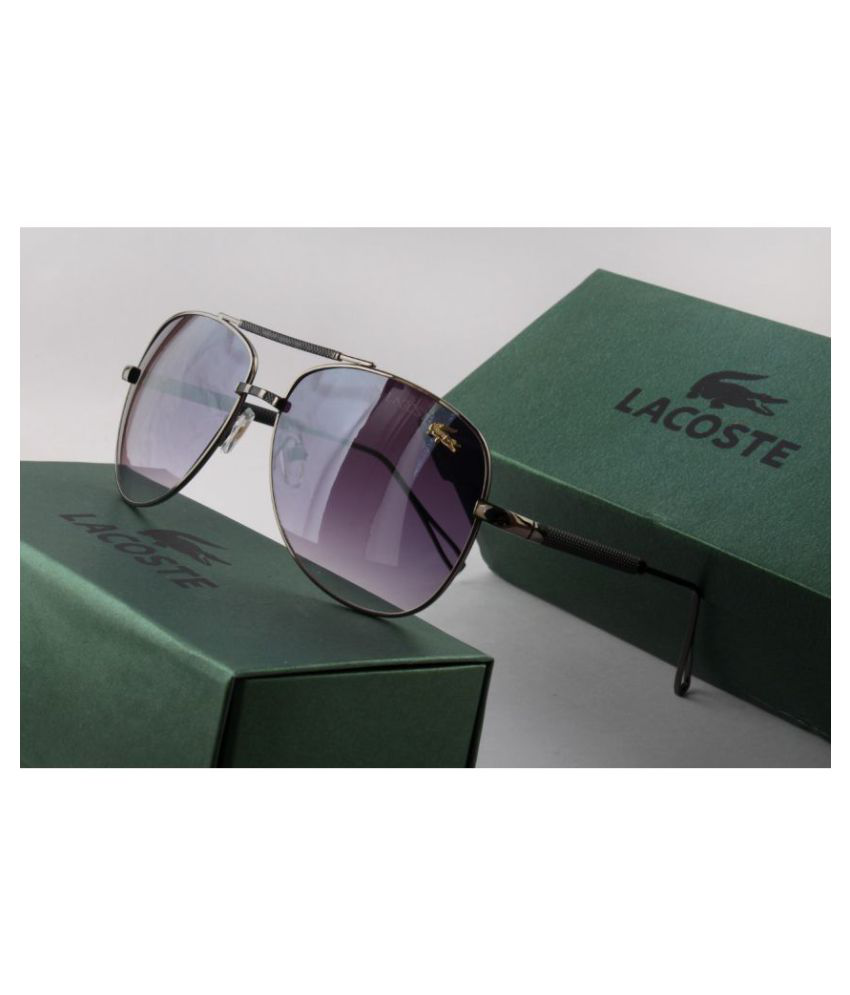 Lacoste Black Oval Sunglasses ( C34 )