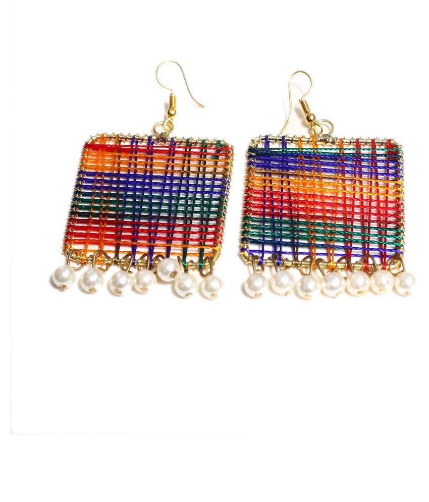 STYlishU  Thread   Multicolor Hanging  Earrings