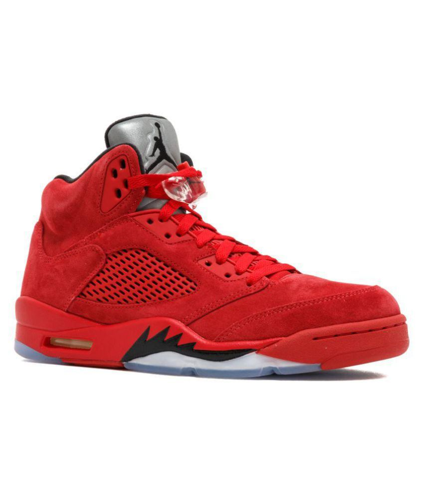 new arrival a26a2 f3a0a Nike Jordan Retro 5 Red Basketball Shoes