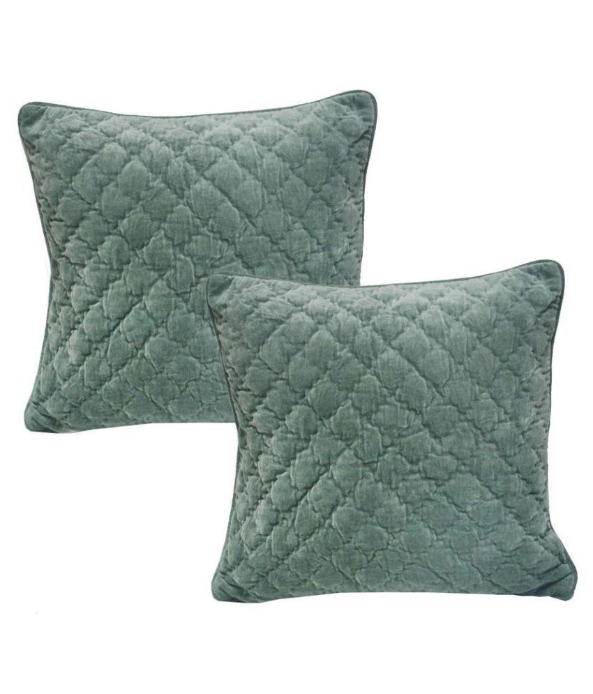 R home Set of 2 Velvet Cushion Covers 50X50 cm (20 X 20)