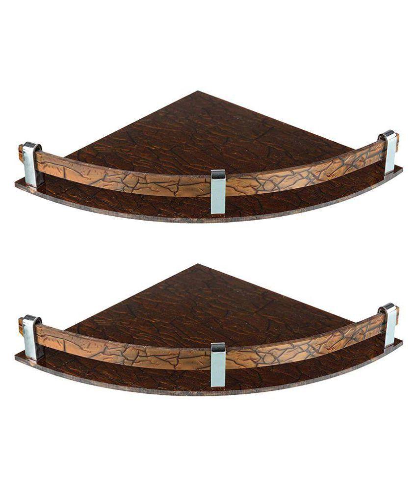 Designer corner shelf ( set of 2 ) brown