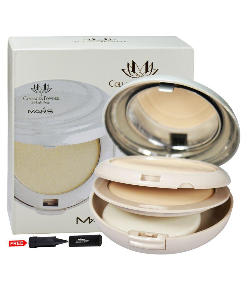 Mars Collagen Powder BB Light P401-02 Pressed Powder Light Beige 10X2 gm