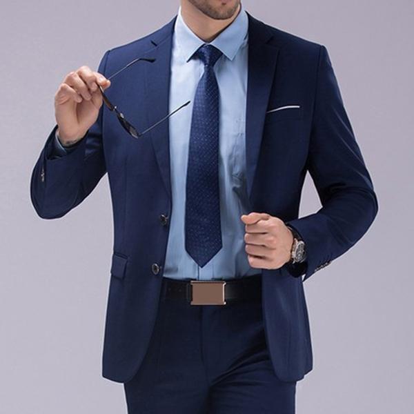 f0beba751b4a8b Two Pieces Solid Color Slim Fit Wedding Business Dress Blazer Suit&Pants  For Men - Buy Two Pieces Solid Color Slim Fit Wedding Business Dress Blazer  ...