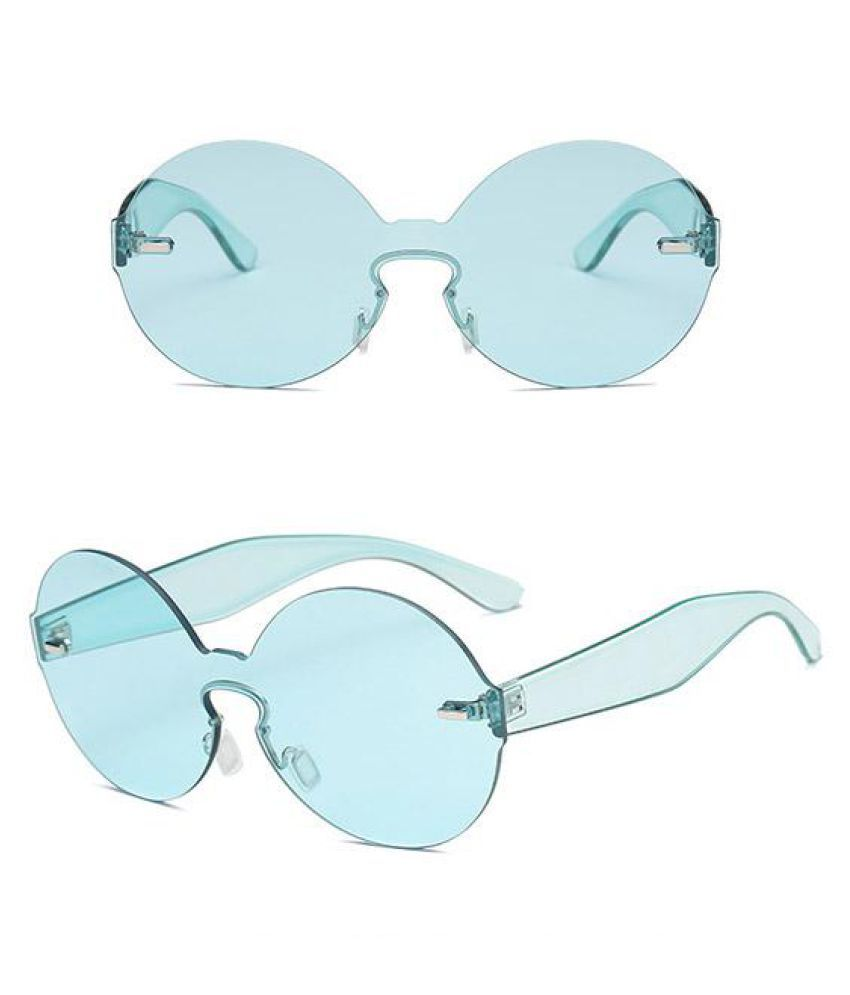 Women Summer Round Frame Sunglasses Outdoor Casual Ocean Lens Glasses
