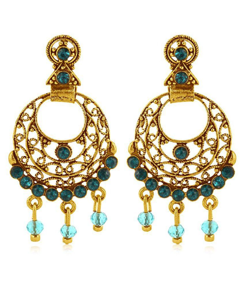Vendee fashion Gold plated round shape filigree design  earring for women