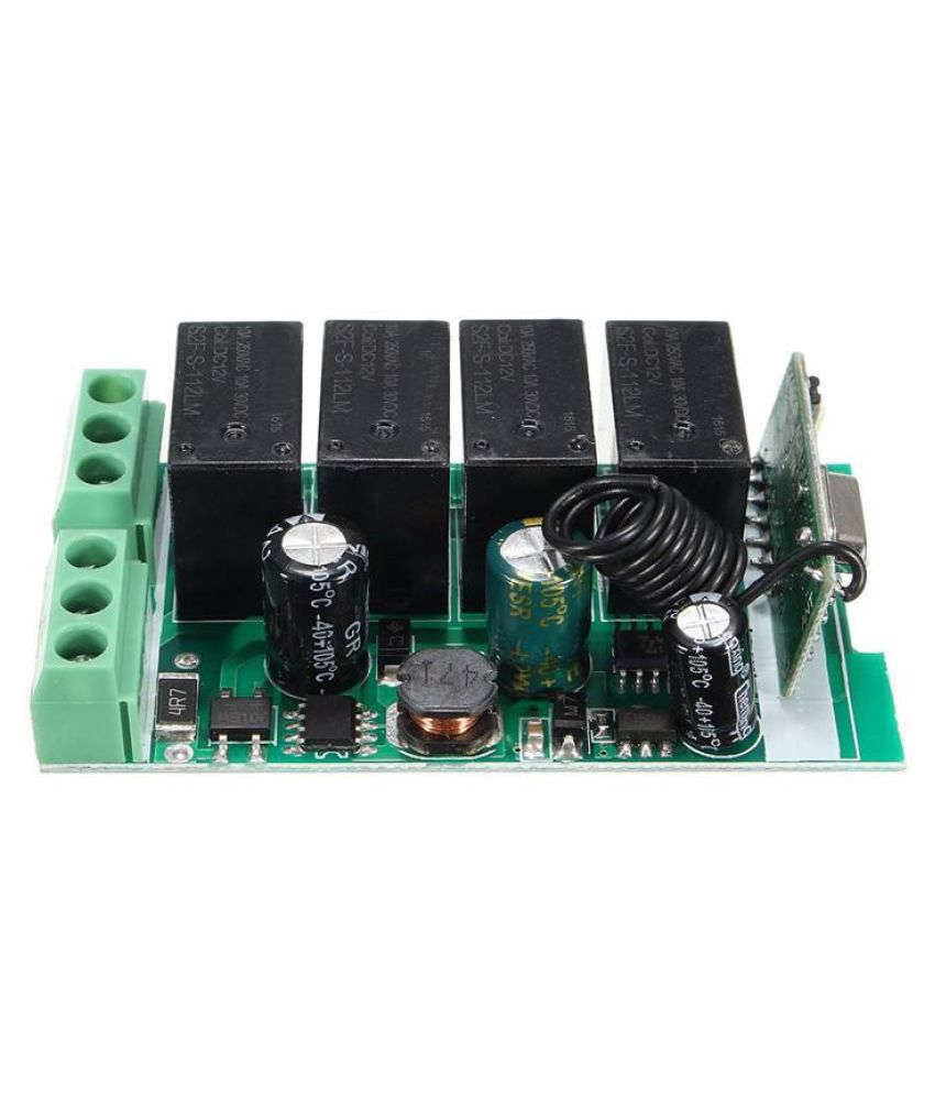220V 4 Channel Wireless Relay RF Remote Control Switch DC 12V Relay