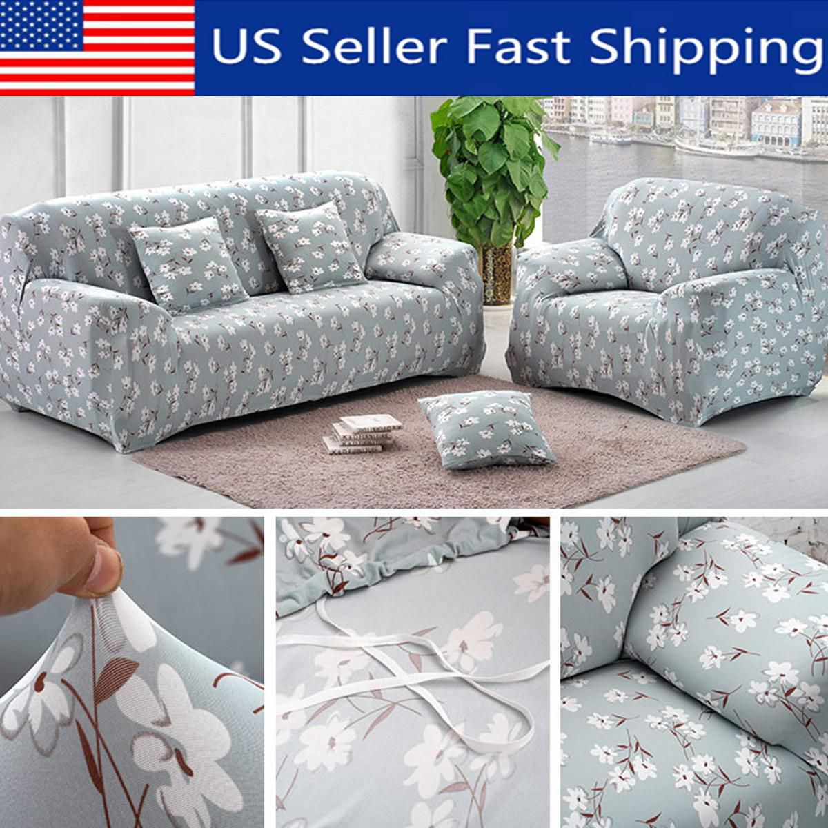 Marvelous 1 2 3 4 Seat Sofa Slipcover Soft Stretch Couch Cover Machost Co Dining Chair Design Ideas Machostcouk