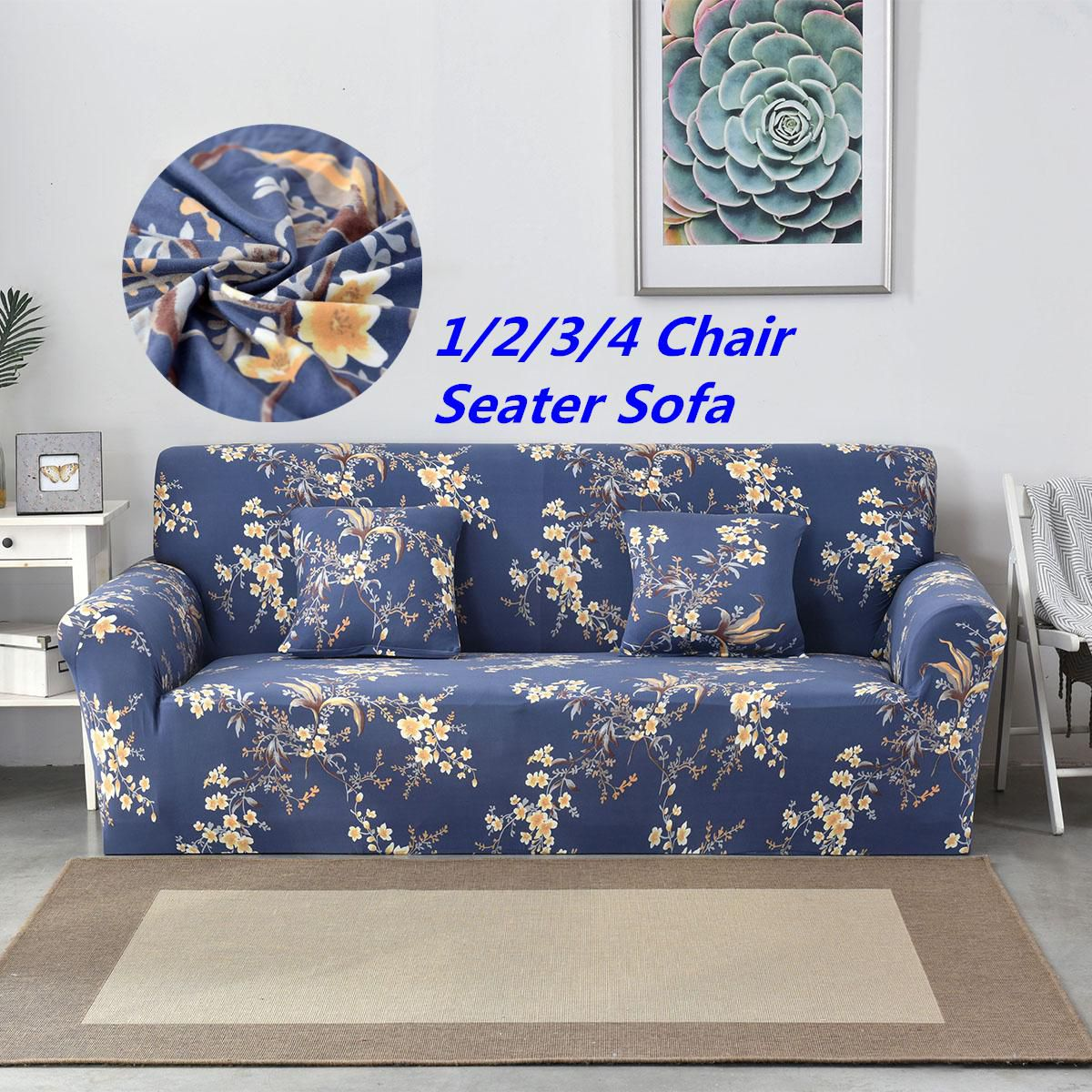 1 2 3 4 seater sofa cover chair couch stretch elastic protect rh snapdeal com