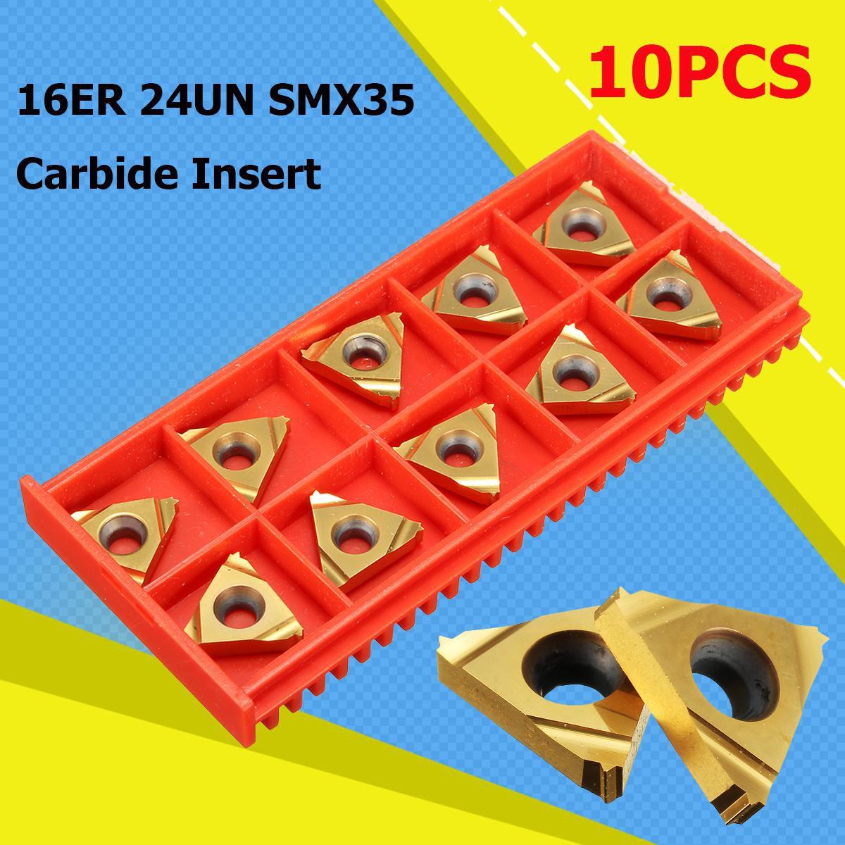 10pcs 16ER 24UN SMX35 Carbide Insert Blade Lathe Threading Boring Blad CNC