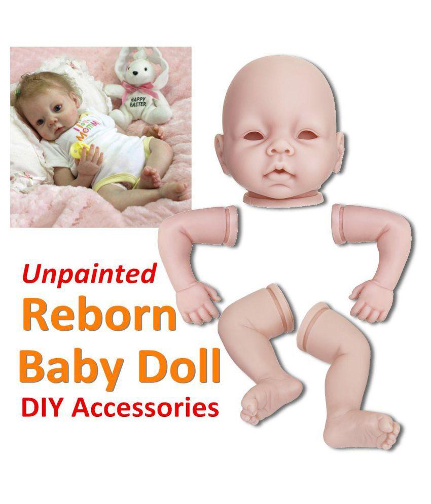 22/'/' Lifelike Newborn Silicone Vinyl Reborn Gift Baby Dolls Handmade Full Body