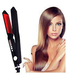 Jm Professional Travel Hair Straighteners Flat Iron 35W Hair Straightener ( Black & Red )