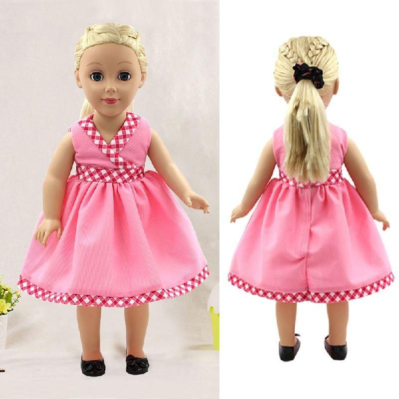 "Fits 18/"" American Girl Madame Alexander Handmade Doll Clothes dress"