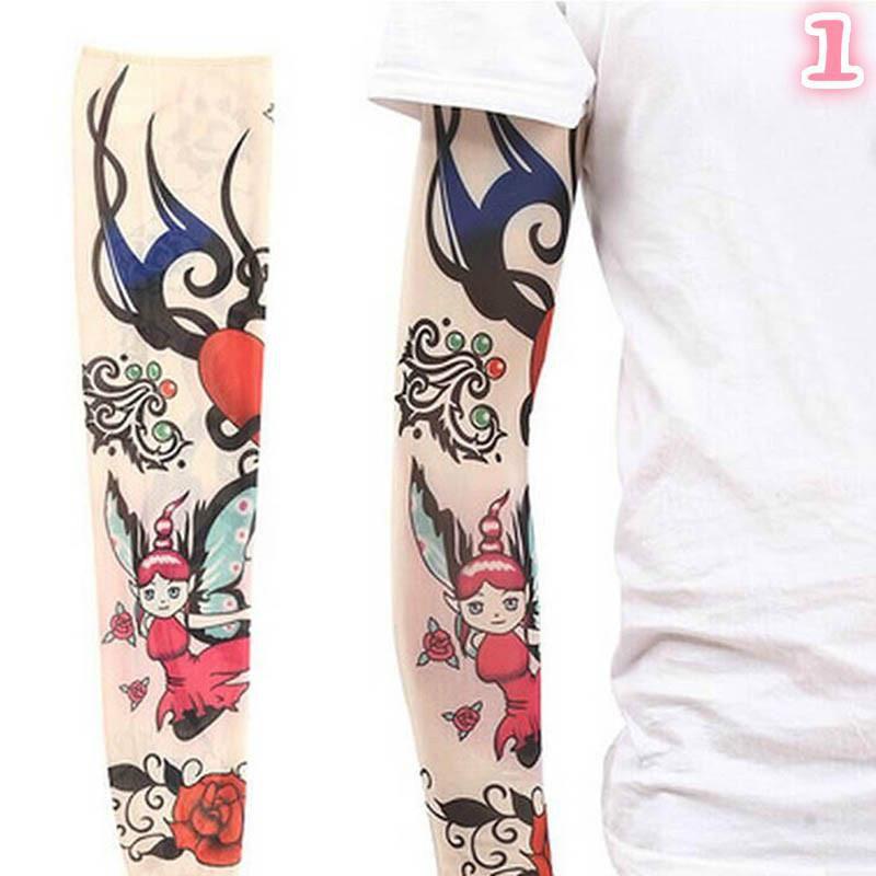 Men Women 3d Print Tattoo Sleeve Tattoo Arm Set Outdoor Sun Protection Uv Riding Fishing Sleeve