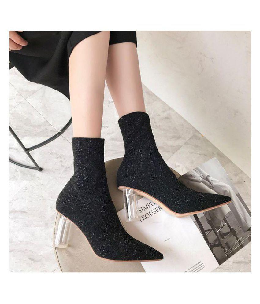 Niti Khaki Platforms Heels