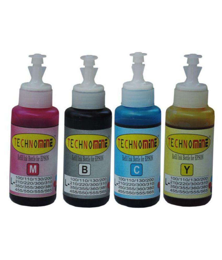 Technomine Epson L ,360,455,565 Ink CMYK Pack of 4