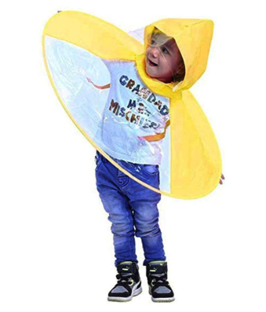 tecmac S-Size Creative UFO Waterproof Hands-Free Umbrella Rain Hat Headwear  Cap Raincoat ... a46119baaa3