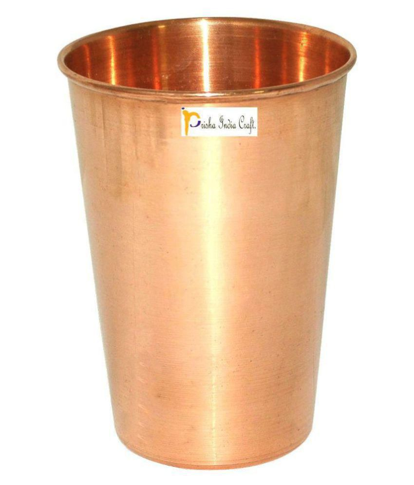 Prisha India Craft Copper 450 ml Glasses