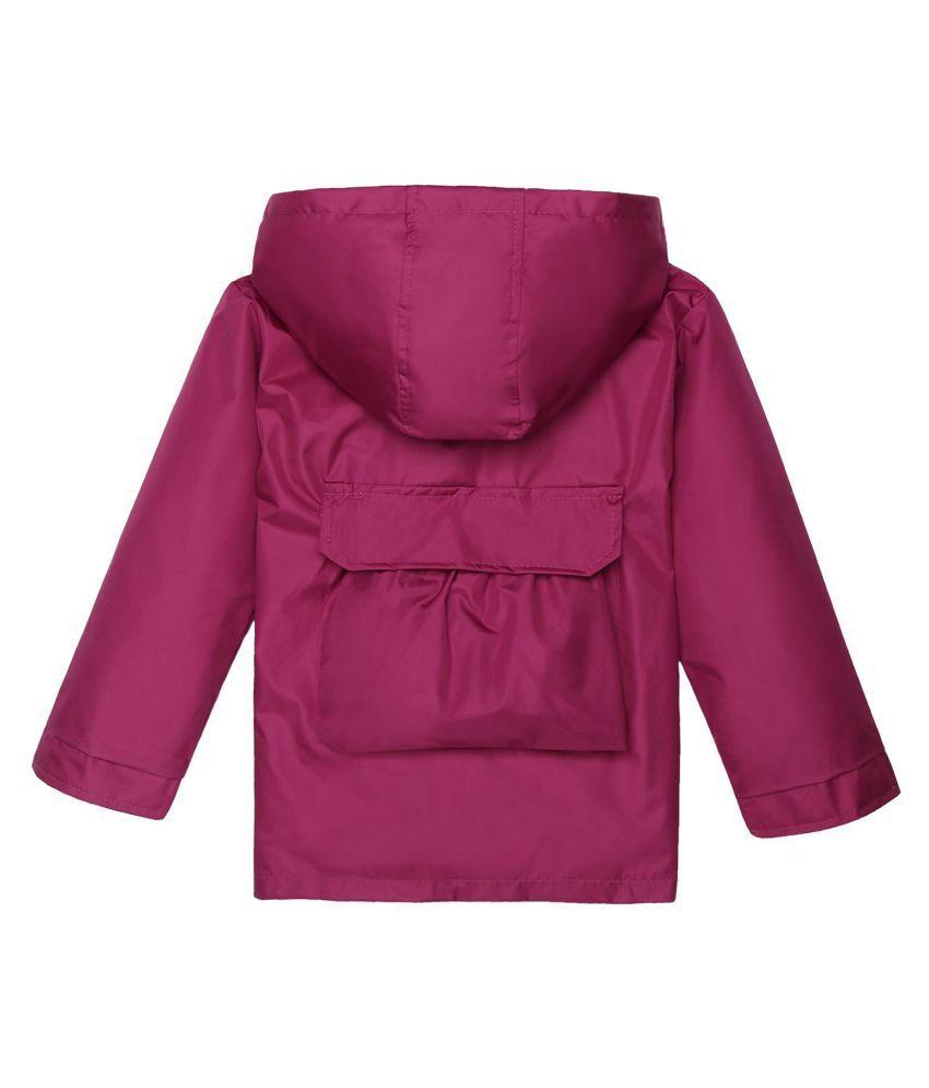 24b371be59d1 Kids Solid Hooded Windbreaker Waterproof Rain Jackets Outwear - Buy ...