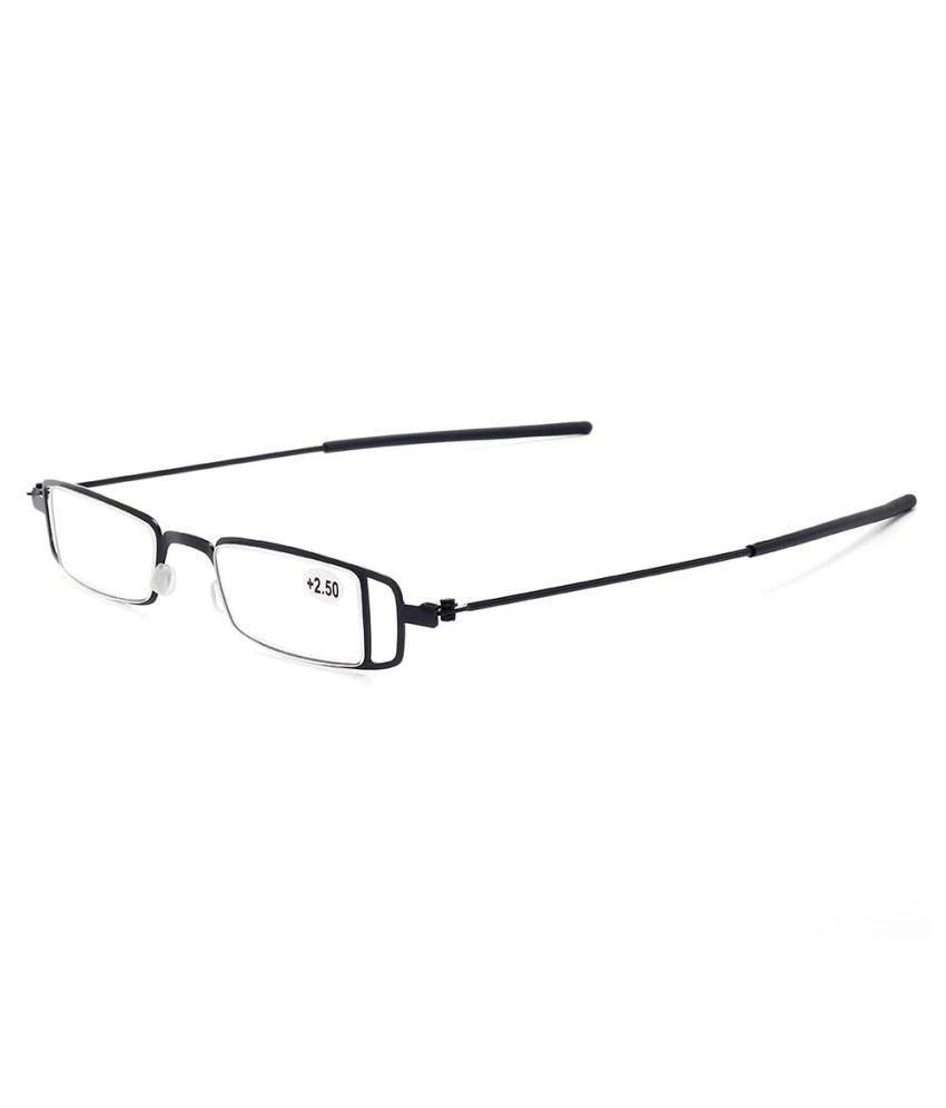 Mens Womens Square Frame Thin Legs Reading Glasses Super Light Medal Cute Presbyopic Glasses