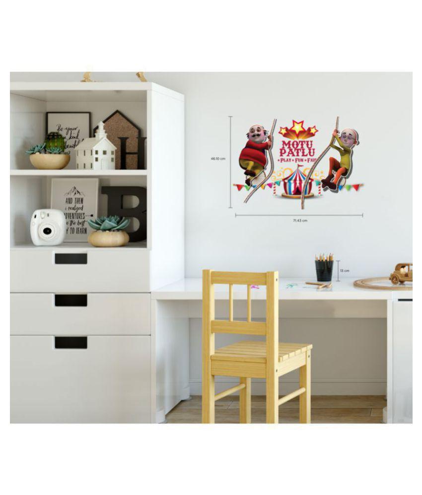 asian paints motu patlu cartoon characters sticker 46 x 71 cms rh snapdeal com