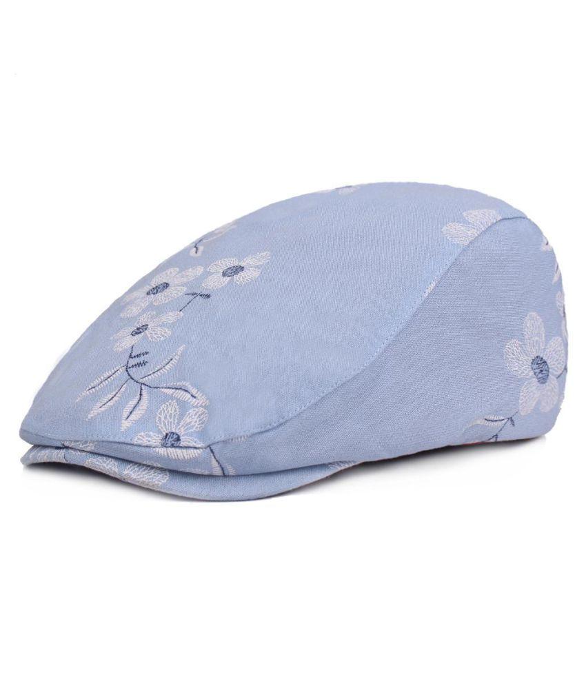 ... Womens Cotton Plum Blossom Pattern Cap Duckbill Ivy Cap Flat Cabbie  Newsboy Beret Hat ... 37deb4a3de