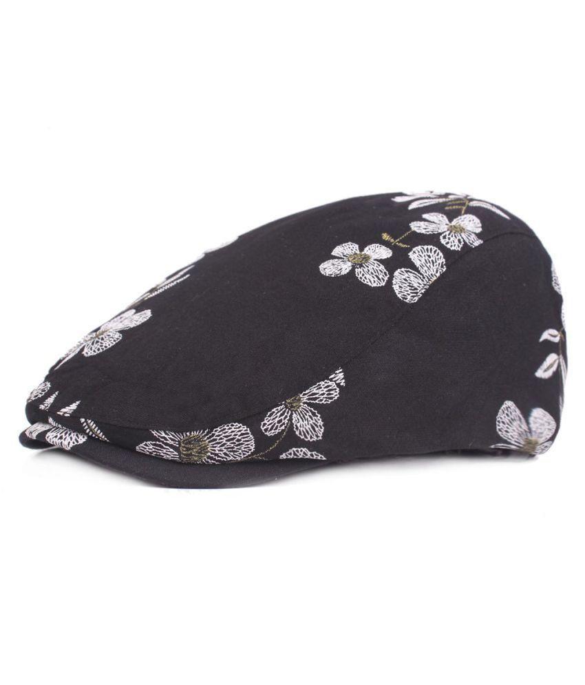 ... Womens Cotton Plum Blossom Pattern Cap Duckbill Ivy Cap Flat Cabbie  Newsboy Beret Hat fae5872071