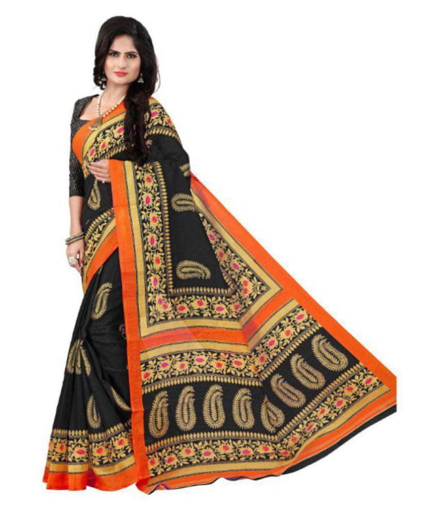 FINETHREAD Multicoloured Bhagalpuri Silk Saree