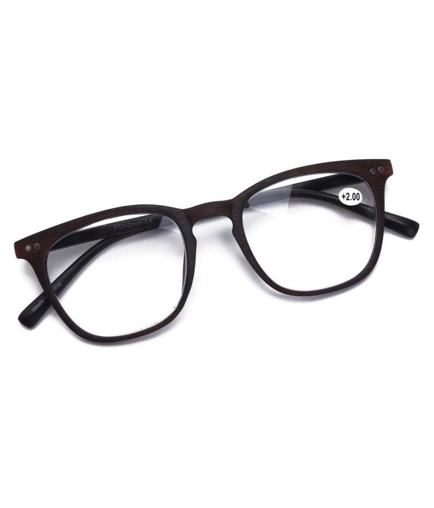 Mens Womens Reading Retro Glasses Fashion Imitation Wood Wear-resistant Computer Presbyopic Glasses
