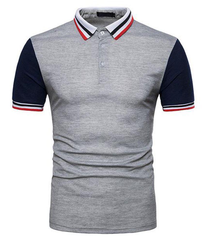 1ef6b6af19e3 ... Mens Fashion Hit Color Golf Shirt Turn-down Collar Short Sleeve Spring  Summer Casual Tops ...