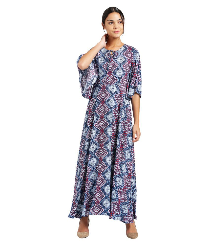 Zink London Rayon Multi Color Regular Dress