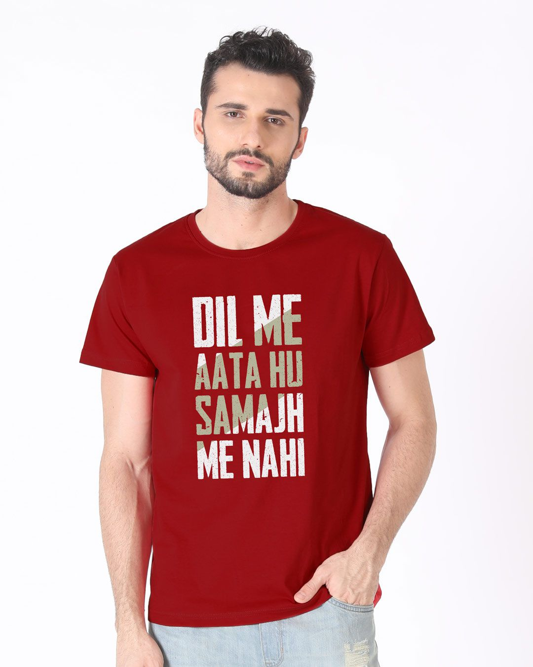 Koutons Red Half Sleeve T-Shirt