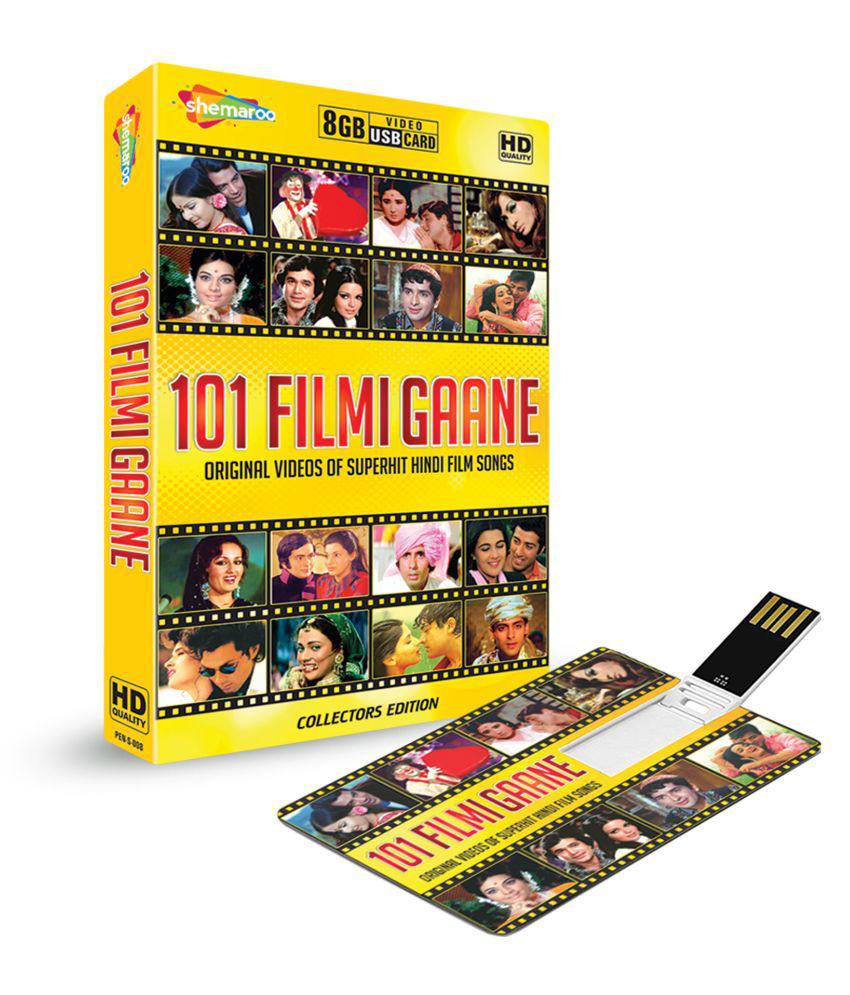 Music Card 101 Filmi Gaane Hindi Video Songs 8 GB ( Music Card )- Hindi