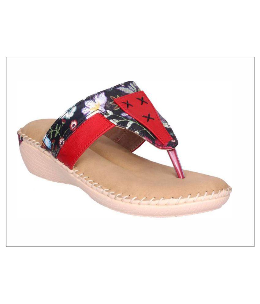 Doctor Soft Red Wedges Heels