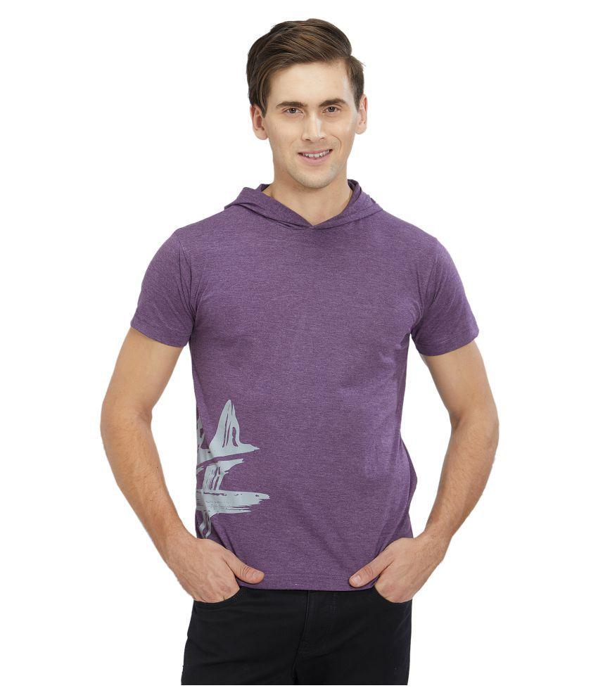 Imagica Purple Half Sleeve T-Shirt