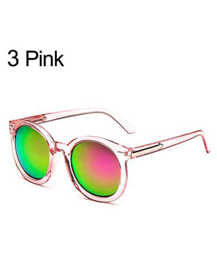 Women's Men's Round Frame Eyeglasses Outdoor Driving Seaside Eyewear Sunglasses