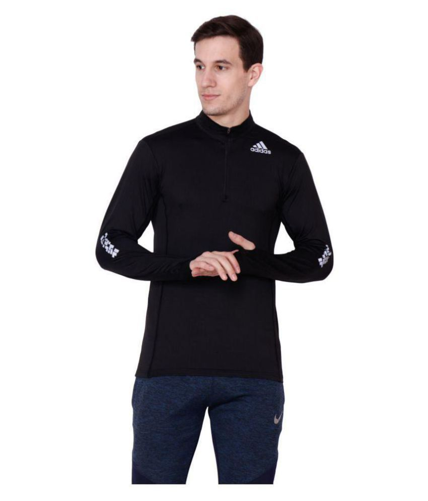 8f5eff4b Adidas Black Full Sleeve T-Shirt - Buy Adidas Black Full Sleeve T-Shirt  Online at Low Price - Snapdeal.com